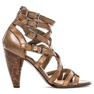 🆕🌟HP Frye Mika strappy leather sandal heel